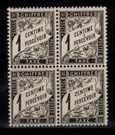 Taxe YV 10 N** Luxe En Bloc De 4 - 1859-1955 Mint/hinged