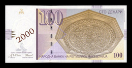 Macedonia 100 Denari Commemorative 2000 Pick 20 Serie AA SC UNC - Macedonia