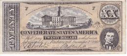 BILLETE DE ESTADOS UNIDOS DE 20 DOLLARS DEL AÑO 1862 (REPRODUCCIÓN) - Other