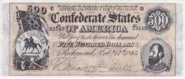 BILLETE DE ESTADOS UNIDOS DE 500 DOLLARS DEL AÑO 1864 (REPRODUCCIÓN) - Other