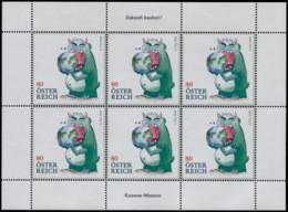 """Austria 2020, KB """"Zukunft Kaufen"""" Konsum-Monster MNH / POSTFRISCH / ** - Blokken & Velletjes"""