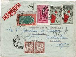 CTN68COL- MADAGASCAR LETTRE AVION TANANARIVE/MONTAUBAN 22/3/1941 - Covers & Documents