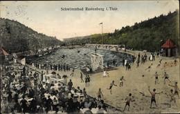 CPA Rastenberg Im Kreis Sömmerda Thüringen, Badegäste Im Schwimmbad, Terrasse - Otros