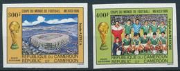 CAMEROON 1986 FOTBALL WORLD CUP IMPERF - Camerun (1960-...)