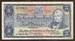SCOTLAND. 5 Pounds 22.3.1968. The British Linen Bank. Pick 170. - 5 Pounds