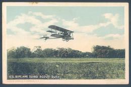 Aviation Avion U. S. Biplane Doing Scout Duty Aeroplane - Sin Clasificación