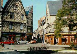 Automobiles - Petit Plan - Bourges - Place Gordaine - Maisons Anciennes - CPM - Voir Scans Recto-Verso - Voitures De Tourisme