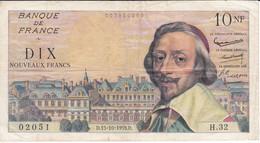 BILLETE DE FRANCIA DE 10 FRANCS DEL 15-10-1959 RICHELIEU (BANKNOTE) - 10 NF 1959-1963 ''Richelieu''