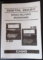 # Casio Digital Diary SF-8000 – SF-7500 Manuale Dell'utente In Italiano Usato - Informatica