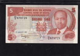 Kenia 5 Shillings  1981 AU - Kenya