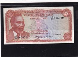 Kenia 5 Shillings  1978 AU - Kenya