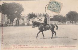 """49 - SAUMUR - """"Courageux"""", Vainqueur Du Championnat Du Cheval D' Armes, En 1903, Et Du Raid Bruxelles... - Saumur"""