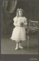 CABINET - Portrait D'une Fillette Au Costume Blanc Par J. DENTEL à Strasbourg (BP) - Antiche (ante 1900)