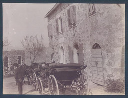 20 2B Corse 1900 Calcatoggio Hôtel Paoli Photo Originale 8.5 X 11.5 Cm - Old (before 1900)