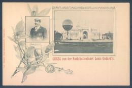 Ballon Sphérique Aerostation Gruss Von Der Nachtballonfahrt Louis Godart's Exposition Munchen 1898 - Globos