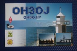 Finland, Hakoinen Lighthouse -  QSL Postcard - Faros