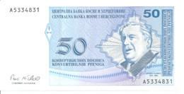 BOSNIE HERZEGOVINE 50 CONVERTIBLE PFENIGA ND1998 UNC P 58 - Bosnia And Herzegovina