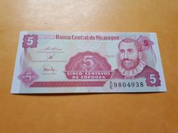 NICARAGUA 5 CENTAVOS 1991-1992 BILLET NEUF - Nicaragua