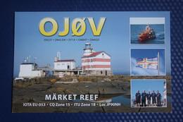 Belgium, Market Reef, Lighthouse -  QSL Postcard - Faros