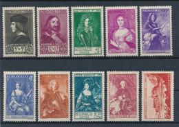 MONACO - N° 185/92 NEUFS** SANS CHARNIERE + N°193/94 NEUFS* AVEC CHARNIERE - COTE : 450€50 - 1939 - Ongebruikt