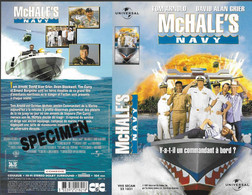 """Mc HALES NAVY"" -jaquette SPECIMEN Originale CIC VIDEO - Action, Adventure"