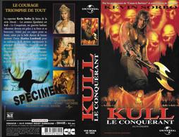 """""""KULL LE CONQUERANT"""" -jaquette SPECIMEN Originale CIC VIDEO - Action, Adventure"""
