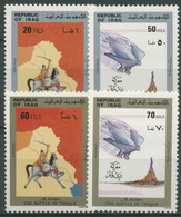 Irak 1983 Schlacht Von Thiquar, Reiter, Vogel 1194/97 Postfrisch - Irak
