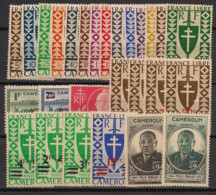 Cameroun - 1941-45 - N°Yv. 249 à 275 - Complet - 27 Valeurs- Neuf Luxe ** / MNH / Postfrisch - Unused Stamps