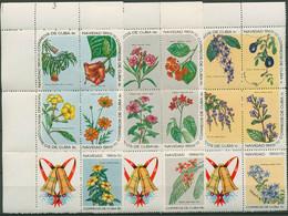 Kuba 1969 Weihnachten Blühende Pflanzen Blüten 1536/50 ZD Postfrisch (C94712) - Hojas Y Bloques