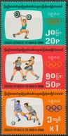 Birma (Myanmar) 1980 Olympia Sommerspiele Moskau 278/80 Postfrisch - Myanmar (Birmanie 1948-...)