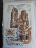 Cachet à Date - TOUL  Sur Mon Timbre à Moi - Voûte De La Cathédrale Sur Carte Illustrée De La Cathédrale - 2010-...