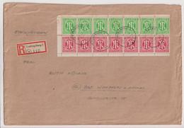 AM-Post, Mi. 3z/7er,, 8z/7er, R-Ludwigsburg, Portorichtig 251-500g, 22.5.46, Mi. 600,00 - American/British Zone
