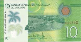 NICARAGUA 10 CORDOBAS 2014-15 UNC P 209 - Nicaragua