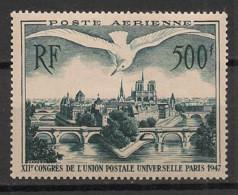 France - 1947 - Poste Aérienne PA N°Yv. 20 - Congrès De L'UPU - Neuf Luxe ** / MNH / Postfrisch - 1927-1959 Postfris