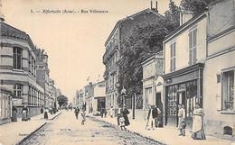 94 - ALFORVILLE : Rue Villeneuve ( Animation Commerces ) CPA - Val De Marne - Alfortville