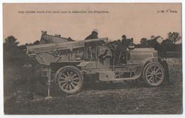 GUERRE 1914 - 18 : AUTO BLINDEE MUNIE D'UN CANON POUR LA DESTRUCTION DES DIRIGEABLES - ECRITE LE 14 DECEMBRE 1914 - - Oorlog 1914-18