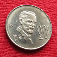 Mexico 20 Centavos 1974 Mexique Mexiko Messico Wºº - Mexico