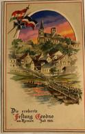 DIE EROBERTE—FESTUNG GRODNO AM NJEMEN 1915 - Landkaarten