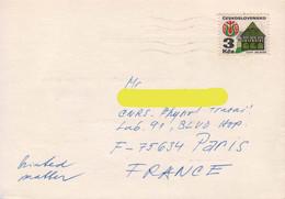 Czechoslovakia / Tchécoslovaquie 1985, City Of Melnik / Circulated Card - Cartas