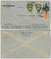 Brazil 1937 Airmail Commercial Cover Via Condor From Rio De Janeiro To Bury Great Britain 4 Stamps 4.200 Réis Rated - Airmail