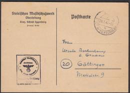Frei Durch Ablösung 3.Reich 1945 Graz Karte Österreich - Göttingen  (25784 - Unclassified