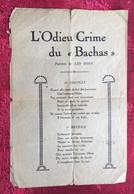"""L'ODIEU CRIME DU """"BACHAS""""-☛ Musique  Partition Chant Chanson Paroles De Léo Bonn-opéra... - Chansonniers"""