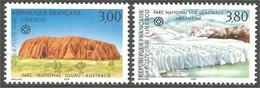 354 France Yv 114-115 UNESCO Mount Uluru Glacier MNH ** Neuf SC (22b) - Otros