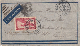 INDOCHINE ENV 1933 HAI-PHONG TONKIN LETTRE AVION - Brieven En Documenten