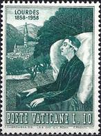 Vatican 1958 - 283 - YT 252 ( Sick And The Shrine At Lourdes ) MNH** - Ungebraucht