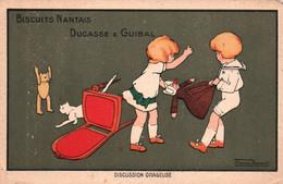 Publicité Biscuits Nantais (BN) Ducasse & Guibal - Illustration Thomas Barwick: Discussion Orageuse - Carte Non Circulée - Reclame