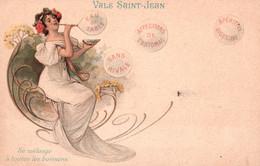 Publicité Vals St Saint-Jean - Illustration Art Nouveau, Bulles: Eau De Table, Apéritive - Carte Dos Simple Non Circulée - Reclame