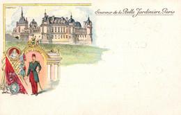 Publicité Souvenir De La Belle Jardinière, Château De Chantilly Et Le Duc D'Aumale - Carte Dos Simple Non Circulée - Reclame