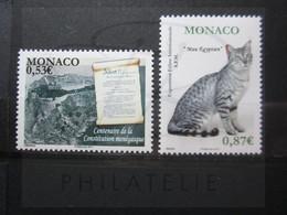 VEND BEAUX TIMBRES DE MONACO N° 2757 + 2758 , XX !!! - Unused Stamps