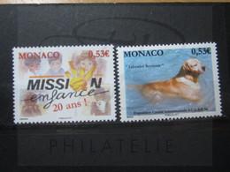 VEND BEAUX TIMBRES DE MONACO N° 2764 + 2765 , XX !!! - Unused Stamps